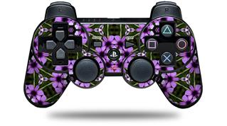 Sony PS3 Controller Decal Style Skin - Floral Pattern Purple (CONTROLLER NOT INCLUDED)