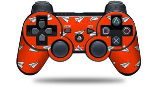 Sony PS3 Controller Decal Style Skin - Paper Planes Red (CONTROLLER NOT INCLUDED)