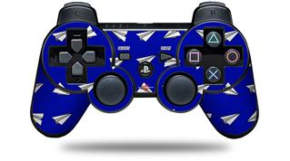 Sony PS3 Controller Decal Style Skin - Paper Planes Royal Blue (CONTROLLER NOT INCLUDED)