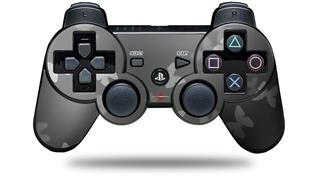 Sony PS3 Controller Decal Style Skin - Bokeh Butterflies Grey (CONTROLLER NOT INCLUDED)