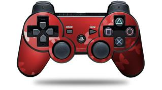 Sony PS3 Controller Decal Style Skin - Bokeh Butterflies Red (CONTROLLER NOT INCLUDED)