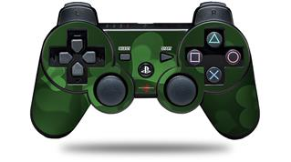 Sony PS3 Controller Decal Style Skin - Bokeh Hearts Green (CONTROLLER NOT INCLUDED)