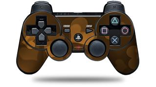 Sony PS3 Controller Decal Style Skin - Bokeh Hearts Orange (CONTROLLER NOT INCLUDED)