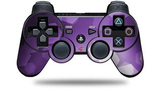 Sony PS3 Controller Decal Style Skin - Bokeh Hex Purple (CONTROLLER NOT INCLUDED)