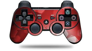 Sony PS3 Controller Decal Style Skin - Bokeh Hex Red (CONTROLLER NOT INCLUDED)