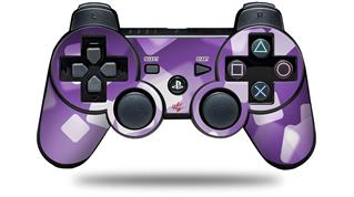 Sony PS3 Controller Decal Style Skin - Bokeh Squared Purple (CONTROLLER NOT INCLUDED)