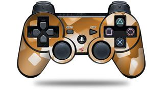 Sony PS3 Controller Decal Style Skin - Bokeh Squared Orange (CONTROLLER NOT INCLUDED)