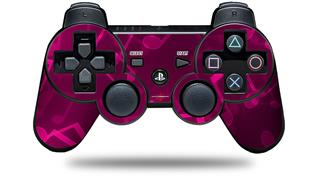Sony PS3 Controller Decal Style Skin - Bokeh Music Hot Pink (CONTROLLER NOT INCLUDED)