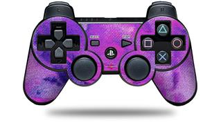 Sony PS3 Controller Decal Style Skin - Painting Purple Splash (CONTROLLER NOT INCLUDED)