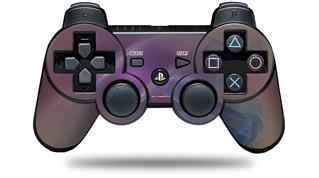 Sony PS3 Controller Decal Style Skin - Purple Orange (CONTROLLER NOT INCLUDED)