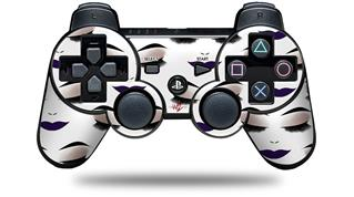Sony PS3 Controller Decal Style Skin - Face Dark Purple (CONTROLLER NOT INCLUDED)