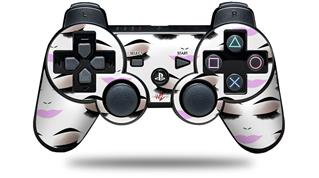 Sony PS3 Controller Decal Style Skin - Face Light Pink (CONTROLLER NOT INCLUDED)