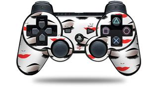 Sony PS3 Controller Decal Style Skin - Face Red (CONTROLLER NOT INCLUDED)
