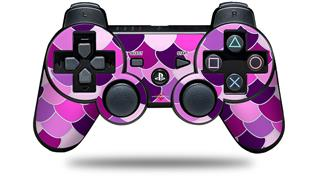 Sony PS3 Controller Decal Style Skin - Scales Pink Purple (CONTROLLER NOT INCLUDED)