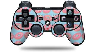 Sony PS3 Controller Decal Style Skin - Donuts Blue (CONTROLLER NOT INCLUDED)