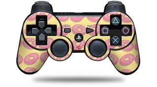 Sony PS3 Controller Decal Style Skin - Donuts Yellow (CONTROLLER NOT INCLUDED)