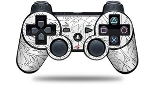 Sony PS3 Controller Decal Style Skin - Fall Black On White (CONTROLLER NOT INCLUDED)