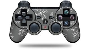 Sony PS3 Controller Decal Style Skin - Winter Snow Gray (CONTROLLER NOT INCLUDED)