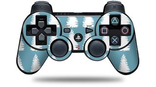 Sony PS3 Controller Decal Style Skin - Winter Trees Blue (CONTROLLER NOT INCLUDED)