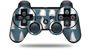 Sony PS3 Controller Decal Style Skin - Winter Trees Dark Blue (CONTROLLER NOT INCLUDED)