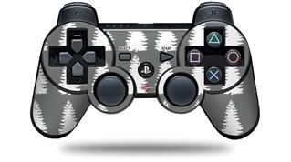 Sony PS3 Controller Decal Style Skin - Winter Trees Gray (CONTROLLER NOT INCLUDED)