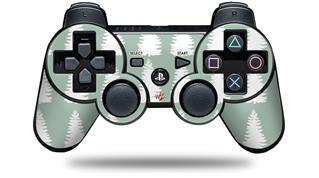 Sony PS3 Controller Decal Style Skin - Winter Trees Green (CONTROLLER NOT INCLUDED)