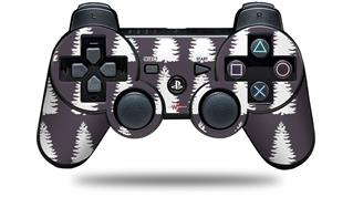 Sony PS3 Controller Decal Style Skin - Winter Trees Purple (CONTROLLER NOT INCLUDED)
