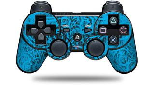 Sony PS3 Controller Decal Style Skin - Folder Doodles Blue Medium (CONTROLLER NOT INCLUDED)