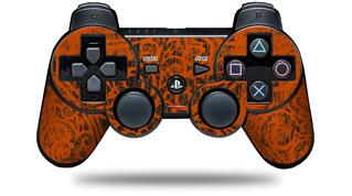 Sony PS3 Controller Decal Style Skin - Folder Doodles Burnt Orange (CONTROLLER NOT INCLUDED)