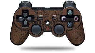 Sony PS3 Controller Decal Style Skin - Folder Doodles Chocolate Brown (CONTROLLER NOT INCLUDED)