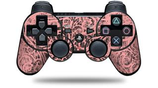 Sony PS3 Controller Decal Style Skin - Folder Doodles Pink (CONTROLLER NOT INCLUDED)