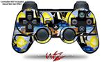 Sony PS3 Controller Decal Style Skin - Tropical Fish 01 Black (CONTROLLER NOT INCLUDED)
