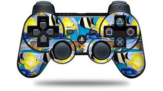 Sony PS3 Controller Decal Style Skin - Tropical Fish 01 Blue Medium (CONTROLLER NOT INCLUDED)