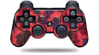 Sony PS3 Controller Decal Style Skin - Floating Coral Coral (CONTROLLER NOT INCLUDED)