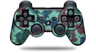 Sony PS3 Controller Decal Style Skin - Floating Coral Seafoam Green (CONTROLLER NOT INCLUDED)