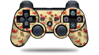 Sony PS3 Controller Decal Style Skin - Crabs and Shells Yellow Sunshine (CONTROLLER NOT INCLUDED)