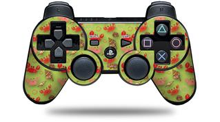 Sony PS3 Controller Decal Style Skin - Crabs and Shells Sage Green (CONTROLLER NOT INCLUDED)