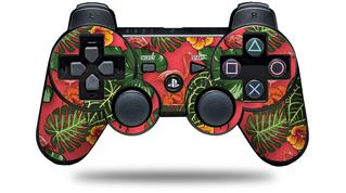 Sony PS3 Controller Decal Style Skin - Famingos and Flowers Coral (CONTROLLER NOT INCLUDED)