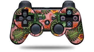 Sony PS3 Controller Decal Style Skin - Famingos and Flowers Pink (CONTROLLER NOT INCLUDED)