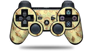 Sony PS3 Controller Decal Style Skin - Sea Shells 02 Yellow Sunshine (CONTROLLER NOT INCLUDED)