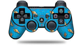 Sony PS3 Controller Decal Style Skin - Sea Shells 02 Blue Medium (CONTROLLER NOT INCLUDED)