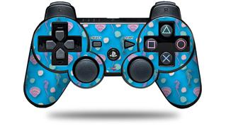 Sony PS3 Controller Decal Style Skin - Seahorses and Shells Blue Medium (CONTROLLER NOT INCLUDED)