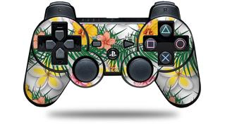 Sony PS3 Controller Decal Style Skin - Beach Flowers 02 White (CONTROLLER NOT INCLUDED)