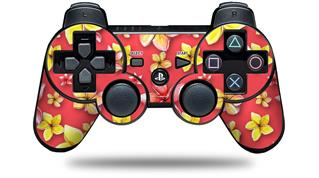 Sony PS3 Controller Decal Style Skin - Beach Flowers Coral (CONTROLLER NOT INCLUDED)