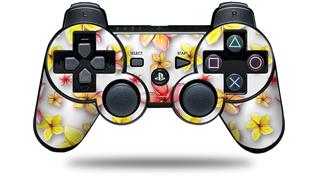 Sony PS3 Controller Decal Style Skin - Beach Flowers White (CONTROLLER NOT INCLUDED)