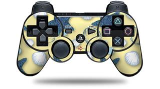 Sony PS3 Controller Decal Style Skin - Starfish and Sea Shells Yellow Sunshine (CONTROLLER NOT INCLUDED)