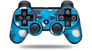 Sony PS3 Controller Decal Style Skin - Starfish and Sea Shells Blue Medium (CONTROLLER NOT INCLUDED)