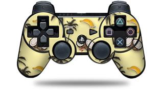 Sony PS3 Controller Decal Style Skin - Coconuts Palm Trees and Bananas Yellow Sunshine (CONTROLLER NOT INCLUDED)