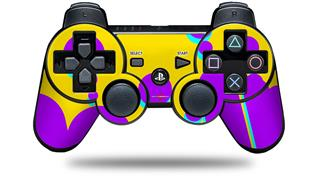 Sony PS3 Controller Decal Style Skin - Drip Purple Yellow Teal (CONTROLLER NOT INCLUDED)