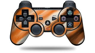 Sony PS3 Controller Decal Style Skin - Paint Blend Orange (CONTROLLER NOT INCLUDED)